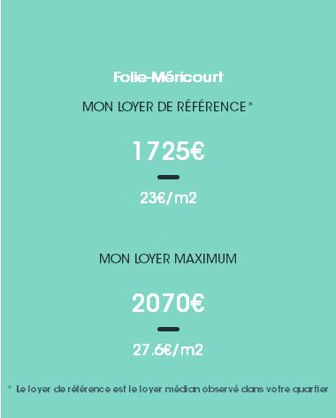 Loyer de référence T4 à 75011 Paris -calculé sur le site www.encadrementdesloyers.gouv.fr