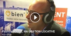 Fabrice Houlé est au micro de Radio-immo.fr pour expliquer la gestion locative externalisée