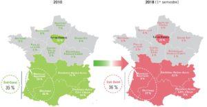 carte-achat-locatif-region-france-evolution-8 ans-source-CF